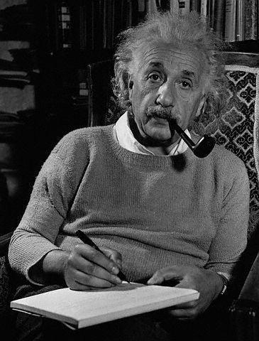 Albert Einstein Smoking 2
