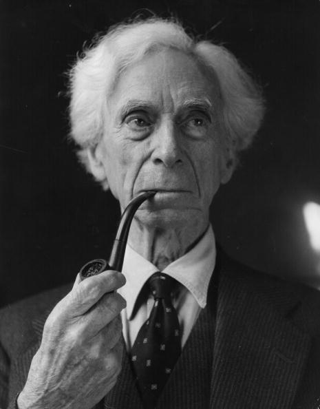 Bertrand Russell Smoking 2