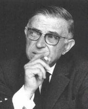 Jean-Paul Sartre Smoking 2