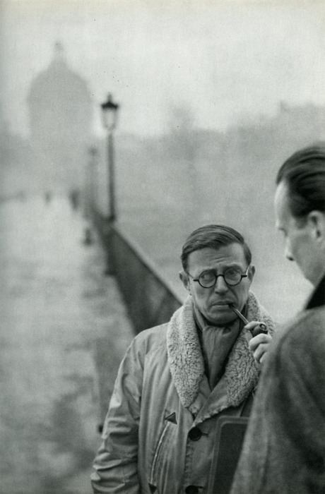 Jean-Paul Sartre Smoking 3