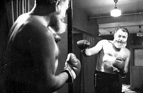Ernest Hemingway boxing