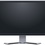 A blank LCD monitor.
