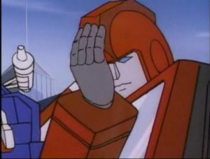 "Ironhide reacts to Ultra Magnus' ""what if we never had energon"" lecture."