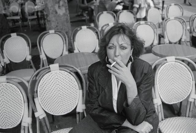 Cristina Fernandez smoking